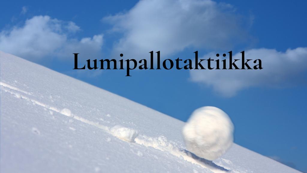 Lumipallotaktiikka