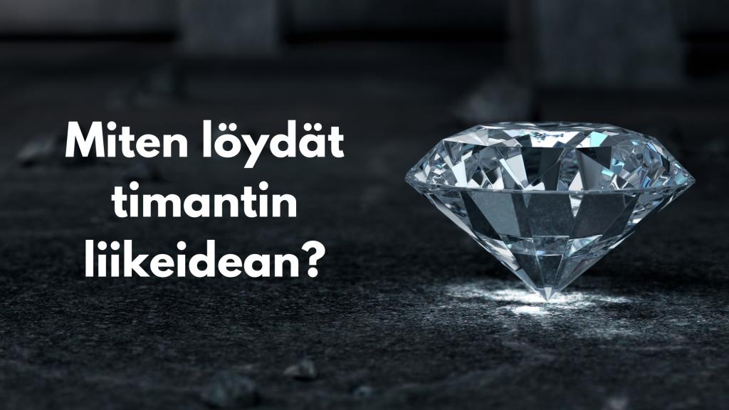 Miten löydät timantin liikeidean?